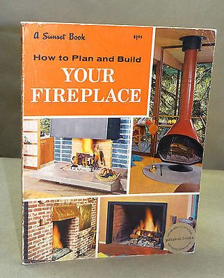 1962 Modern Fireplaces How to Plan Build Mantels Freestanding Mid Century | eBay