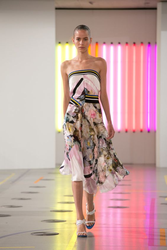 A look from the Preen Spring 2015 RTW collection.