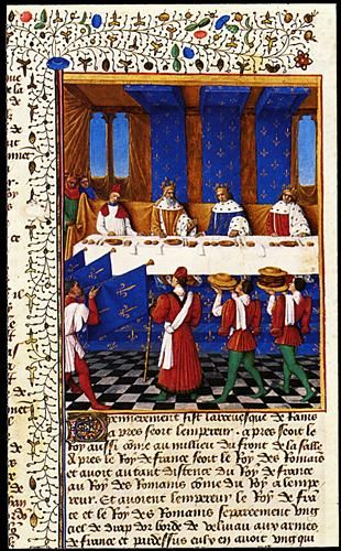 Banquet Given by Charles V (1338-80) in Hhonour of His Uncle Emperor Charles IV (1316-78) in 1378.  finished in 1460