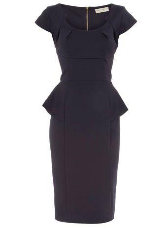 Ink side peplum dress