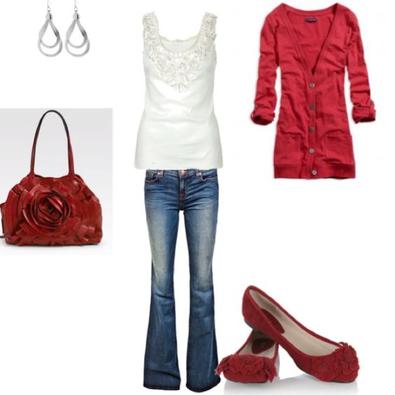 Casual with red accents!