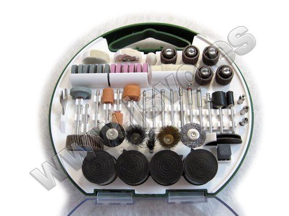 Maletín - Set con 180 accesorios para herramientas multi-funcionales rotativas tipo Stayer Multi Drill 130, Dremel...