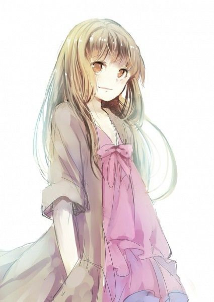 картинка девушка с русыми волосами