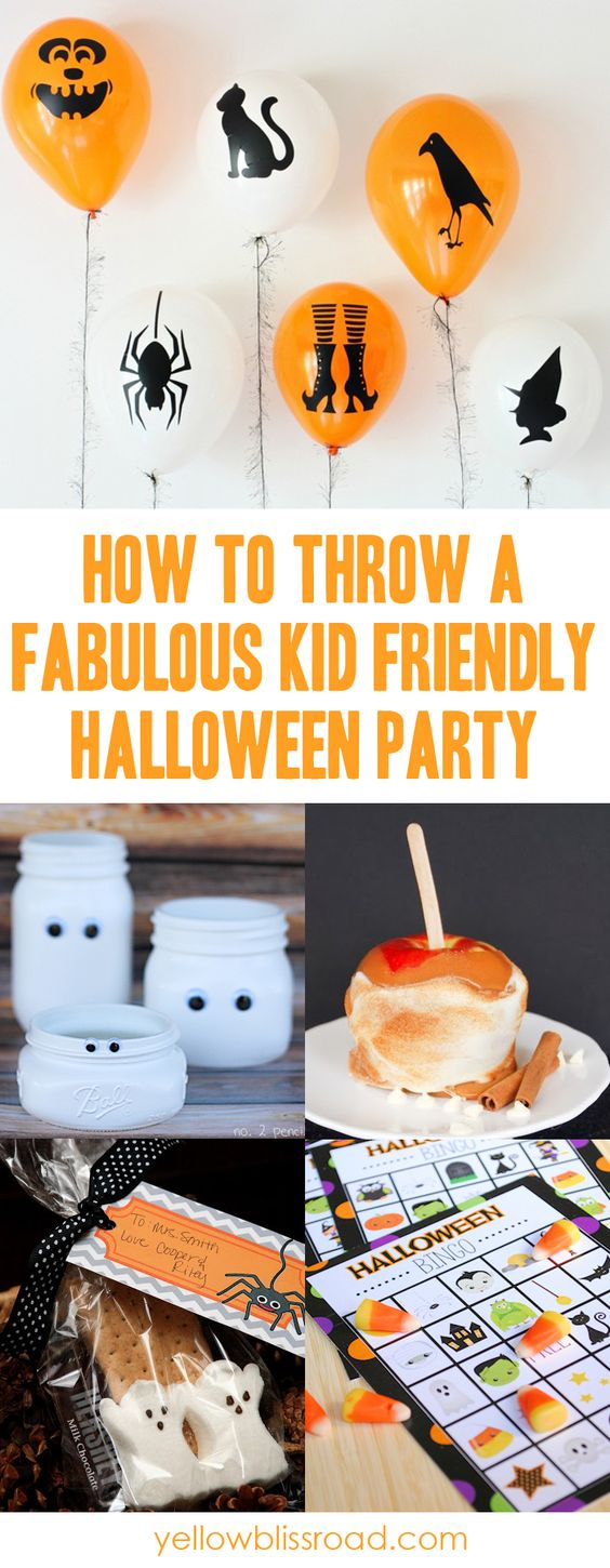 How to Throw a Great Kids Halloween Party | Jars and Dressing up
