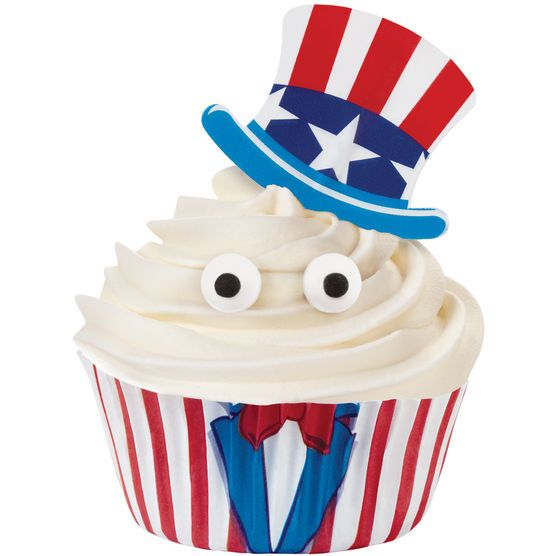 Cupcake Decorating Kit Makes 36-Uncle Sam,