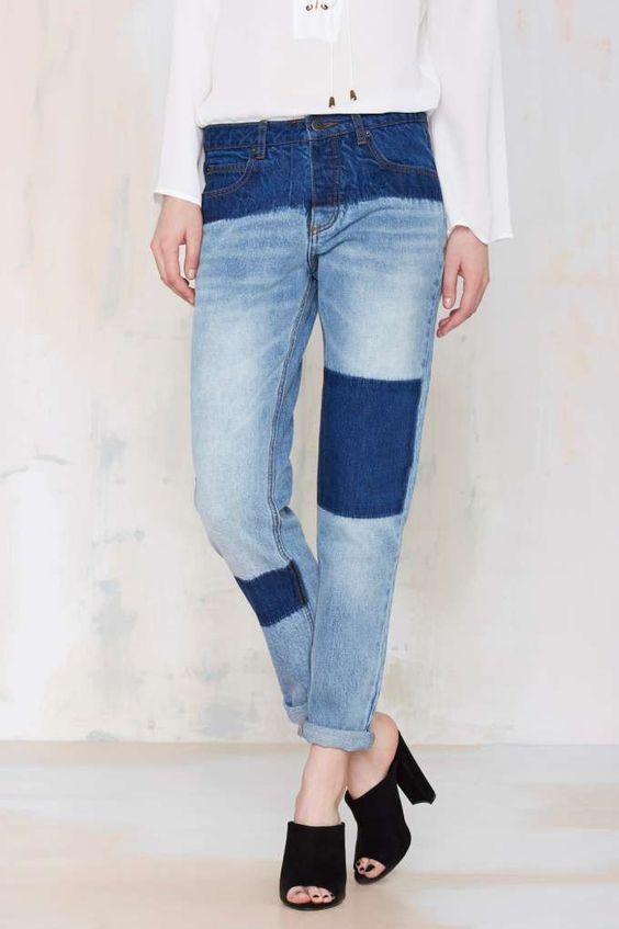 #DIY Bleached Denim Jeans // Inspiration Courtshop Shadow Boyfriend Jean - Denim | Newly Added | | Denim | $68 Denim