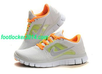 Nike Free Run 3 Running Shoe For Women Gray Orange