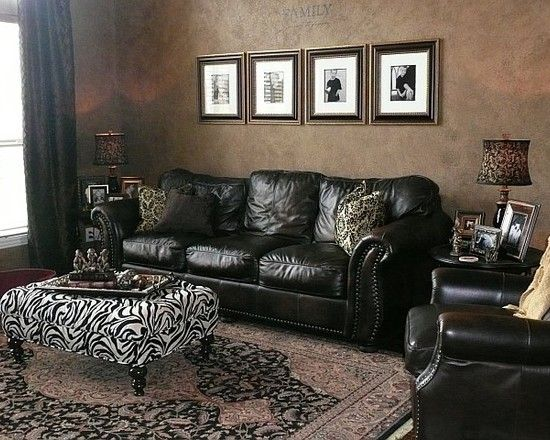 Traditional Living Room With Black Sofa 17 best images about living room on pinterest | leather sofas