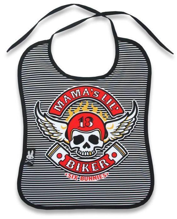 Six Bunnies Baby  LIL BIKER Lätzchen/Bib.Tattoo,Biker,Rockabily,Custom Style