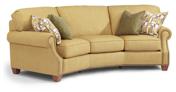 Anderson Conversation Sofa W Nails By Flexsteel For The