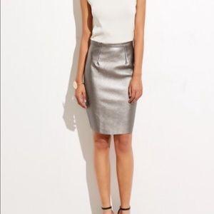 ShopNicety Dresses & Skirts - Metallic vegan leather pencil skirt