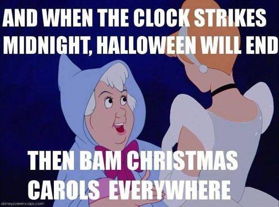 BAM! Christmas carols everywhere...