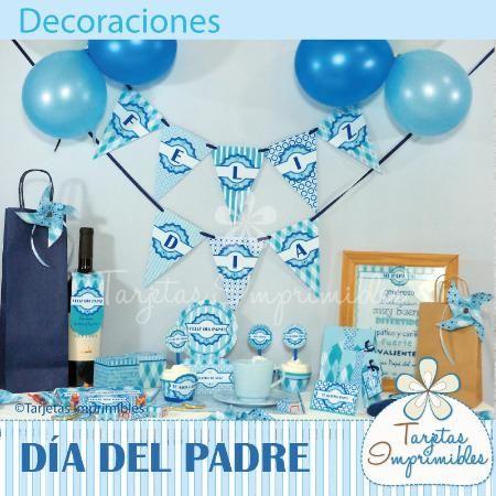 Decoraciones imprimibles para el dia del padre y fiestas for Decoracion x el dia del padre