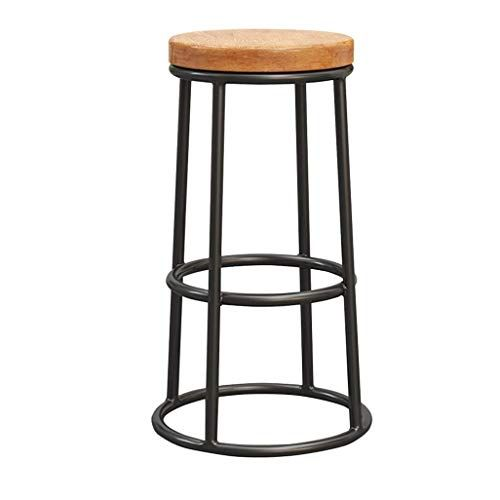 Congming Industrial Chair Iron Footstool Round Wood Chair Breakfast Kitchen Dining Chair Bar Cafe Metal Leg Bar Stool Tabl With Images Retro Bar Stools Bar Stools