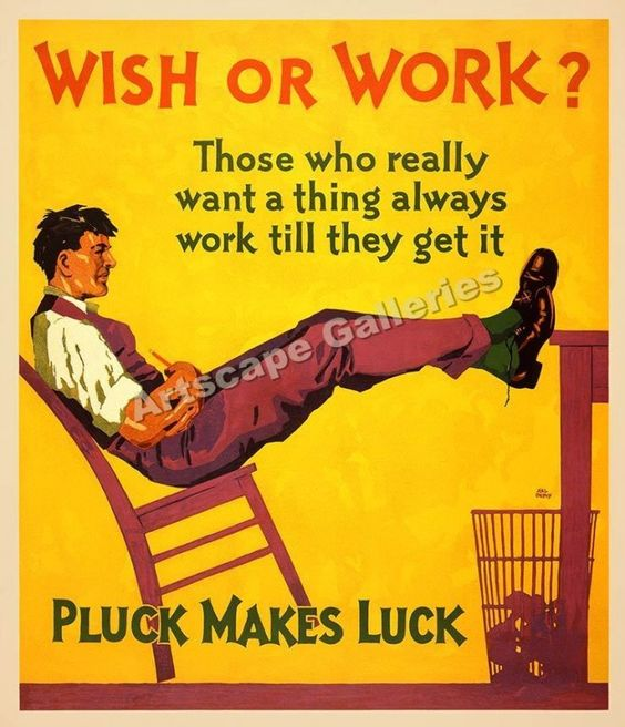 wish-or-work-luck-makes-pluck-hard-motivational-poster