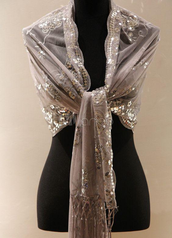 Fabulous Tassel Silk Woman's Special Occasion Shawl - Milanoo.com