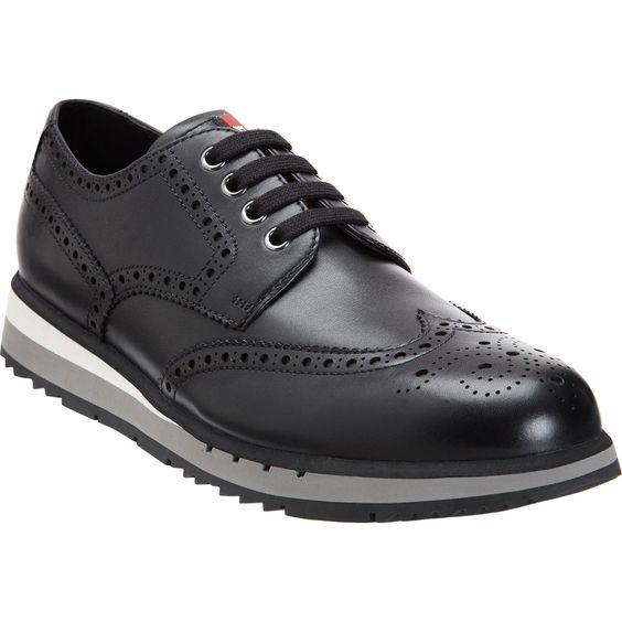 Prada Wingtip Sneaker at Barneys.com