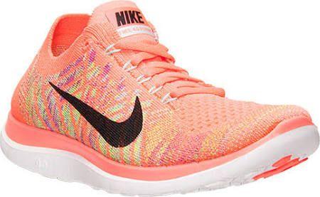Nike women's peach flyknit running shoes