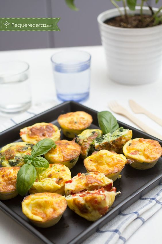 Mini tortilla de verduras, una receta fácil y divertida. Tortillitas de verduras rápidas y fáciles para la cena.