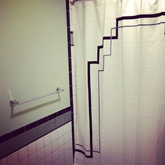 Art Deco Tiles, Custom Shower Curtains And Custom Shower On Pinterest