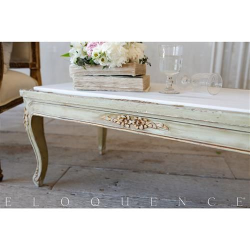 French Country Style Eloquence Vintage Coffee Table With Marble Top 1940 In 2020 Marble Top Coffee Table Coffee Table Vintage Coffee Table