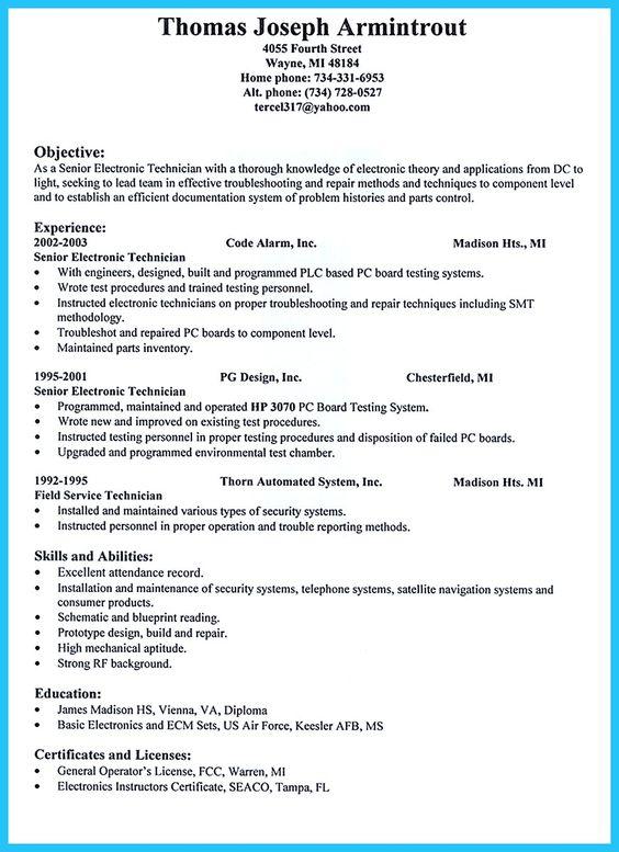 ac technician resume example best sample resume - Best Example Resume