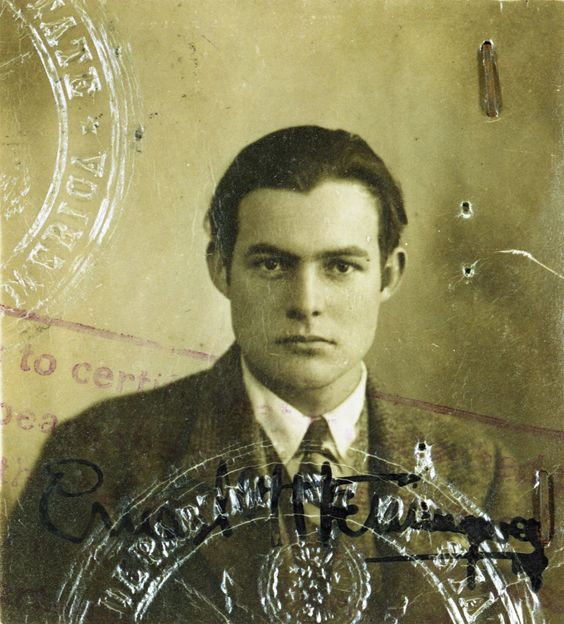 Hemingway's 1923 passport photo. Courtesy of the Ernest Hemingway Collection, John F. Kennedy Presidential Library and Museum, Boston.: