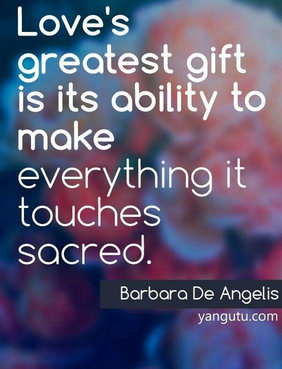 Loves greatest gift