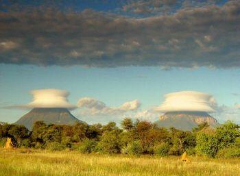?Alien Landing Pads....very strange cloud behavior