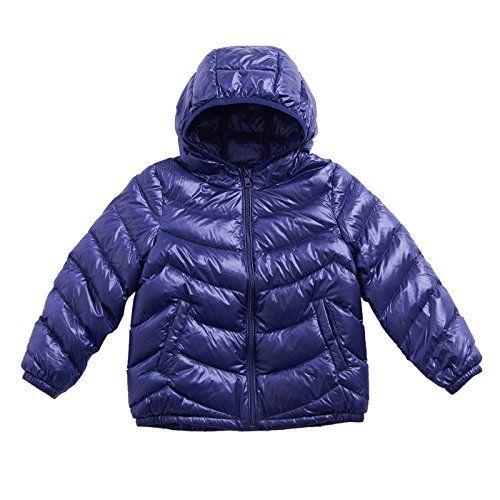 Big Boys Girls Lightweight Packable Hooded Puffer Down Jacket