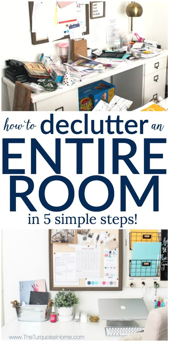 how to declutter an entire room in 5 simple steps my organized office. Black Bedroom Furniture Sets. Home Design Ideas