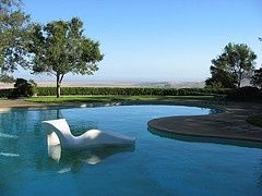 Pool at the Donnell Garden in Sonoma.  Designed by Thomas Church.  Timeless design. lisakayca