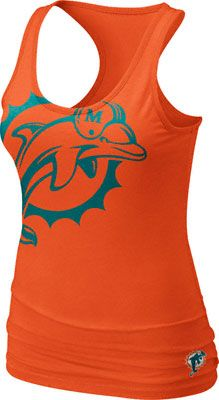 Miami Dolphins Women's Orange Nike Big Logo Tri-Blend Tank Top ...