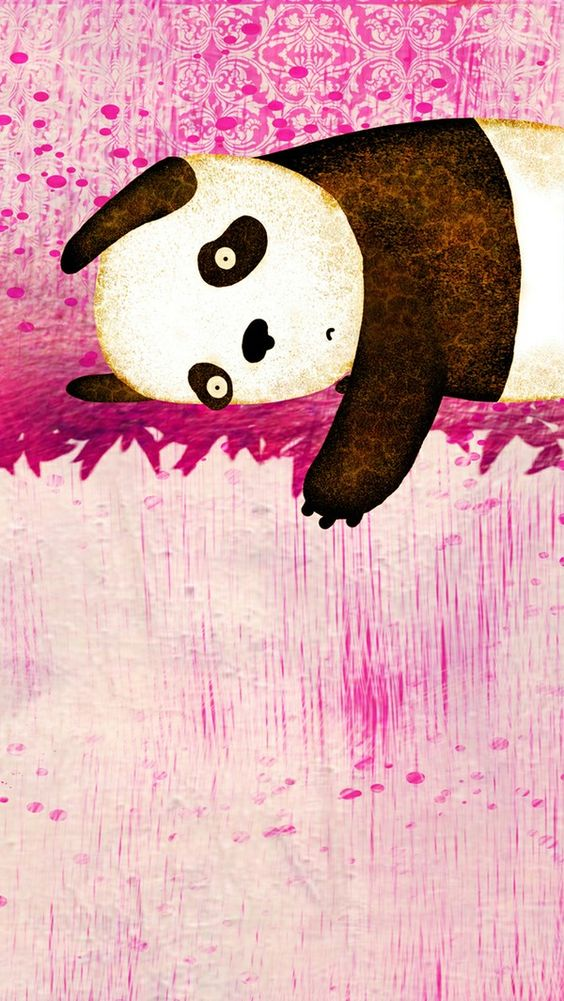 iPhone5插画壁纸  #iphone #s5 | #wallpaper | #illustration | #panda #iPhone #5