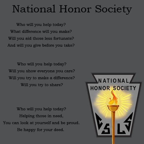 The purpose of national honor society essay