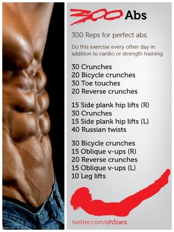 300 Ab Workout. Been doing this for a few days, now. Killer.