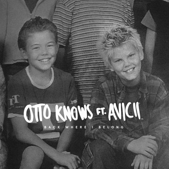 Otto Knows, Avicii – Back Where I Belong (single cover art)