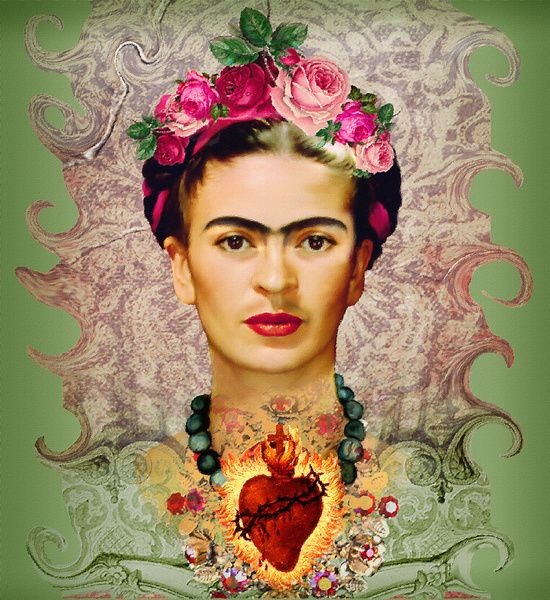 frida kahlo sacred heart heart art and frida kahlo. Black Bedroom Furniture Sets. Home Design Ideas