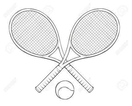 Tennis racket drawing graphic design shirt designs - Dessin raquette ...