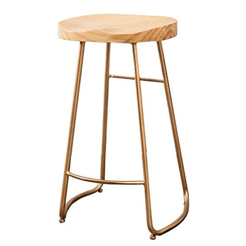 Vintage Metal Barstools Wood Top Bar Stools Backless With Footrest