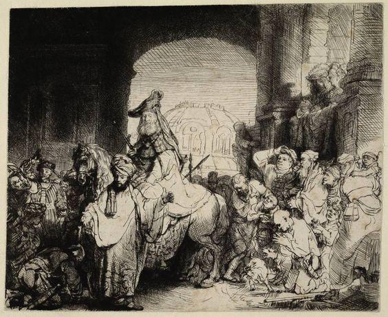 Mijn favoriete Rembrandt in Teylers Museum: Triomf van Mordechai (B40)