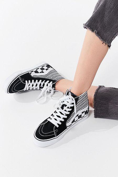 Vans Mix Checkerboard Sk8-Hi Sneaker