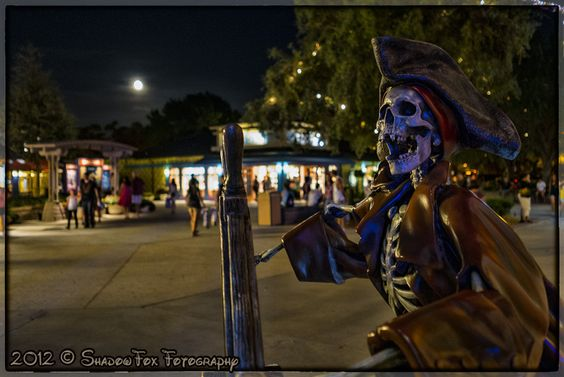 Skeleton Pirate @ Downtown Disney