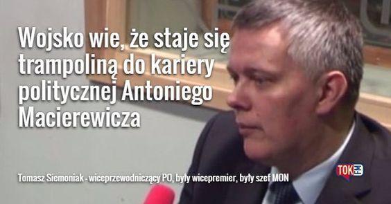 #Macierewicz #Siemoniak #TOKFM #media #news #informacje #radio #Polska #polityka #wojsko #MON #Antoni #TOKFM