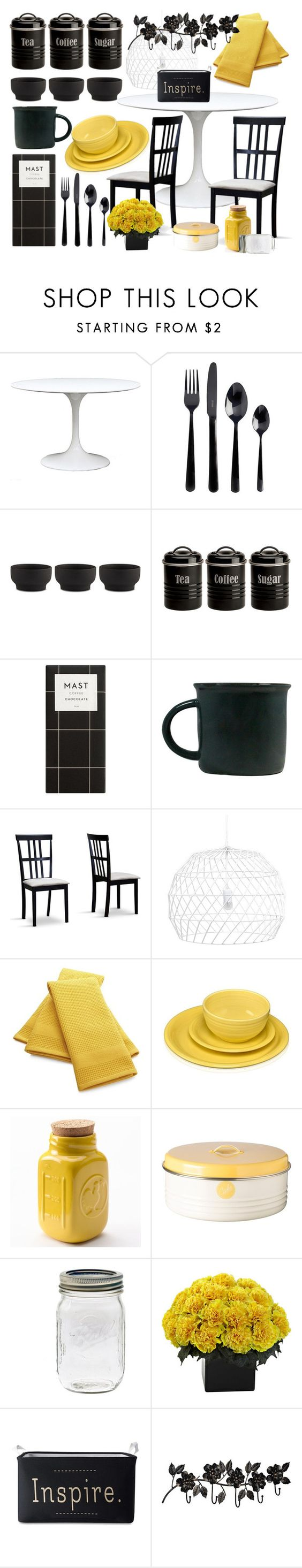 """""""In the Kitchen"""" by emlibertelli ❤ liked on Polyvore featuring interior, interiors, interior design, home, home decor, interior decorating, Viners, Stelton, Typhoon and canvas"""