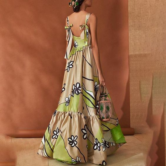 Elegant Stylish Sleeveless Floral Print Maxi Dress - ZUCHIC
