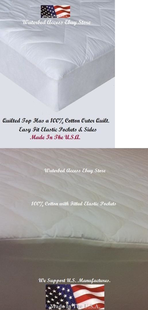 Bed And Waterbed Accessories 66737 California King Cotton Mattress Pads For King Waterbed Double Pack Buy It Now Only 15 Water Bed Mattress Mattress Pads