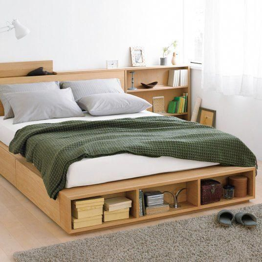 Bedside Table Platform Bed Minimalist Bed Futon Bed Frames