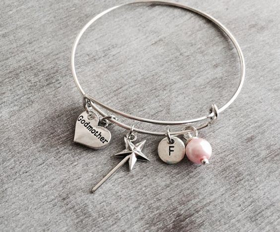 FAIRY GODMOTHER Silver Plated Charm Bracelet Godmother by SAjolie
