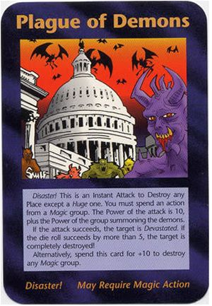 1995 illuminati card game - Plague of demons....in the WH leadership now
